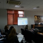 Mrs Chrysoula Papathanasiou presents the online services of the platform.
