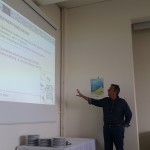 Mr Lagouvardos presents the weather component, during the 8th partner's.