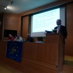 Mr Ksanthopoulos talks about the fore risk assessement during the networking part of the 3rd stakeholders' meeting.