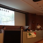 Dr. Luca Brocca is presenting results of the FLIRE Project during the networking event of DICP (26/02/2014).