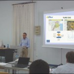 Mr. George Eftychidis is presenting the FLIRE Project during the networking event of the Center for Security Studies-KEMEA (21/07/2014).