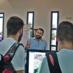 Mr. Dimitrios Poursanidis is presenting the FLIRE DSS platform to local citizens in Heraklion during the networking event of the European Researchers Night 2014 (26/09/2014).